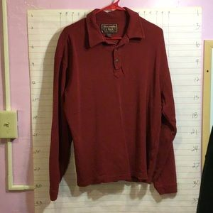 ABERCROMBIE & FINCH men's long sleeve shirt  L red